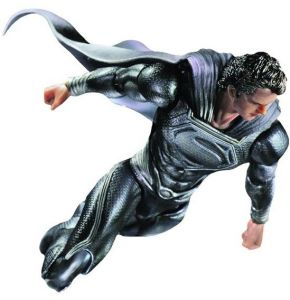 Superman Man of Steel Play Arts Kai Black Suit NYCC Figure