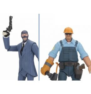 Team Fortress Series 3.5 BLU Engineer & Spy Action Figure Set