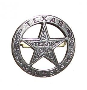 Old West Texas Ranger Badge Replica