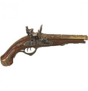 Napoleon Double-Barrel Non-Firing Flintlock