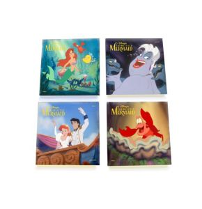 Little Mermaid StarFire Prints Glass Coaster Set