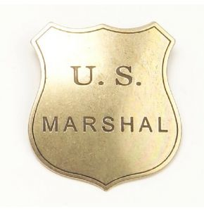 Old West US Marshal Badge Replica