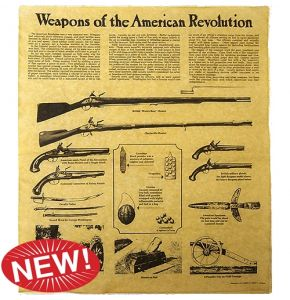 Weapons of the American Revolution Aged Parchment
