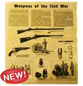 Weapons of the Civil War Aged Parchment