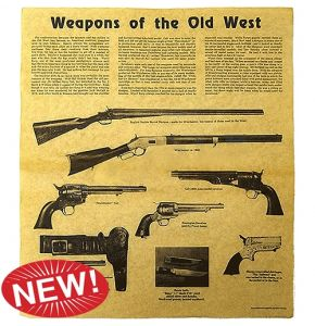 Weapons of the Old West Aged Parchment