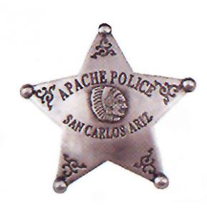 Western Apache Police Badge of San Carlos Arizona