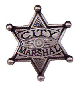 Western City Marshal Badge Replica