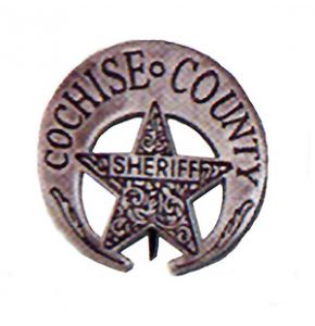 Western Cochise County Sheriff Badge Replica