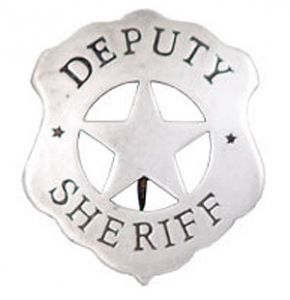 Western Deputy Sheriff Badge Replica