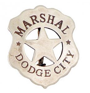 Western Dodge City Marshal Badge Replica