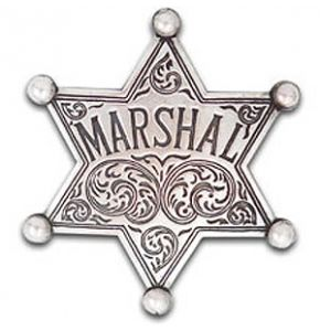 Western Marshal Badge Replica