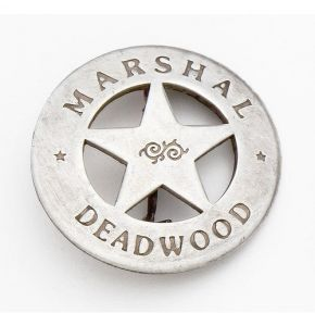 Western Marshal Deadwood Badge Replica