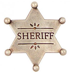 Western Sheriff Badge Replica