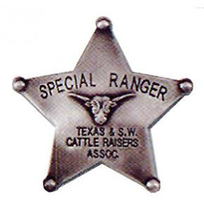 Western Special Texas Cattle Ranger Badge Replica