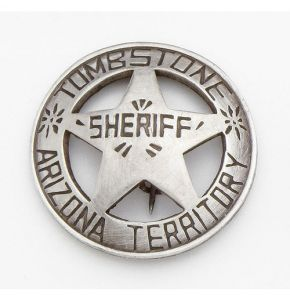 Antiqued Tombstone Sheriff Badge Replica