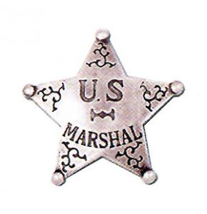 Western US Marshal Badge Replica