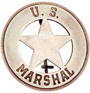 Western US Marshal Badge