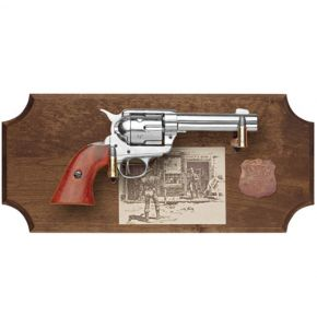 Wyatt Earp Non-Firing Revolver Replica Dark Wood