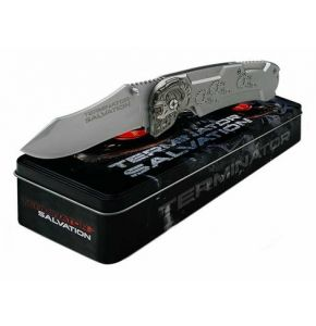 Terminator Salvation Folding Knife Silver
